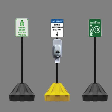 Roll-A-Post™ Portable Sign Post (Base Only)