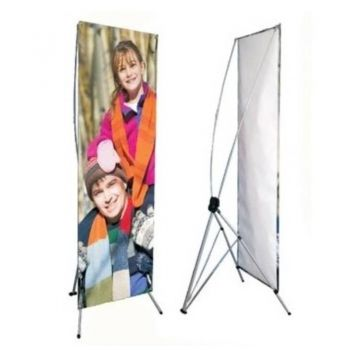 GAP Adjustable Banner Stand - 24in x 61in/70in