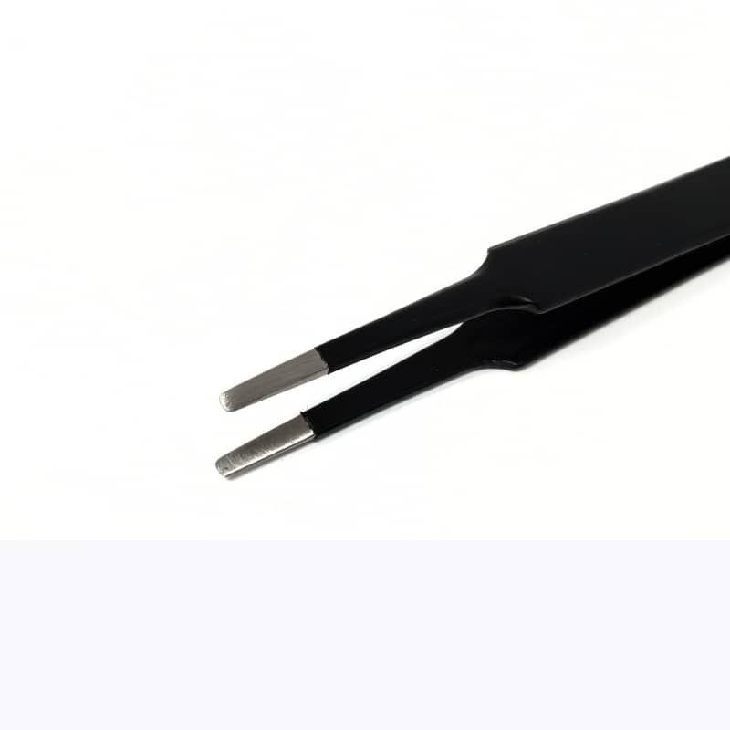 Flat Round Tip Tweezers - 061M