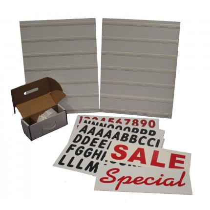White Changeable Message Board Kit
