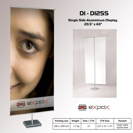 Display Single Side Expox  23.5in x 63in - Square Base