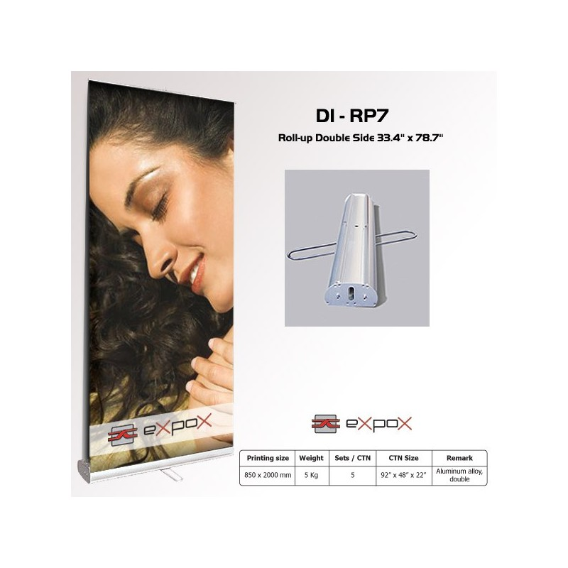 Display Roll-Up Double Side Expox 33.4in x 78.7in