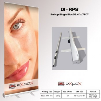 Display Roll-Up Single Side Std Expox 33.4in x 78.7in