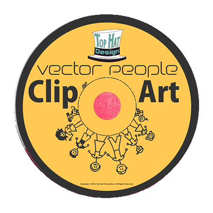 Top Hat Designs - Vector People Collection