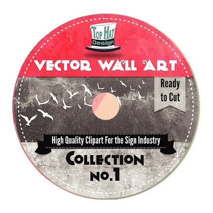 Top Hat Designs - Vector Wall Art Collection v. 1