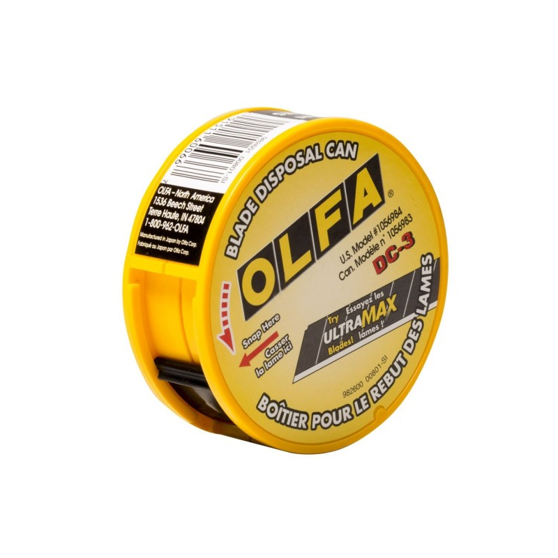 Olfa-DC-3-Blade Disposal Can - Standard