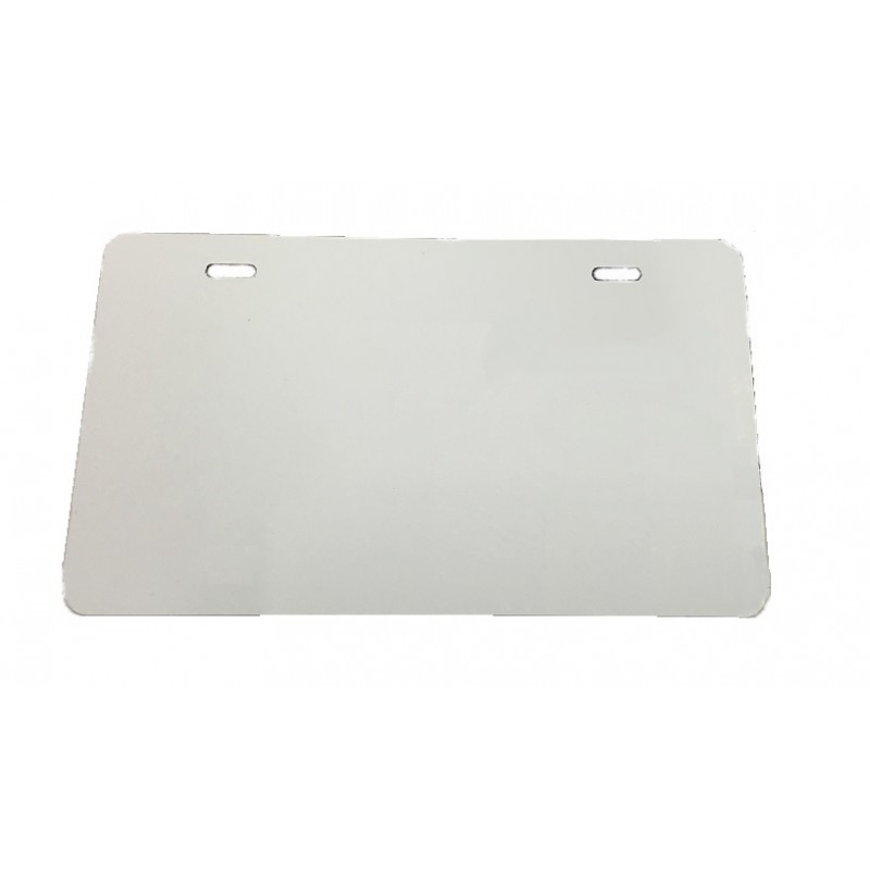 .025 White Alum. MOTORCYCLE License Plate (G-10)