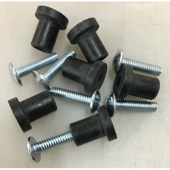 Well Nut 6 Pack (6 well nuts/6 screws)