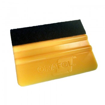 Oracal 4in Felt Edge Wrapped Orange Squeegee