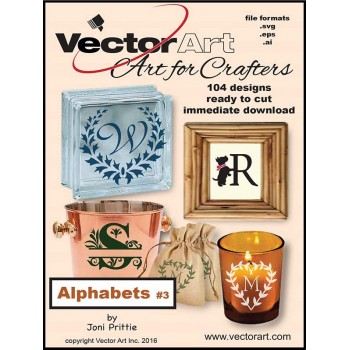 Vector Art for Crafters - Alphabets v.3