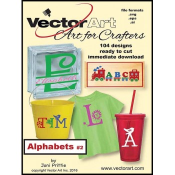 Vector Art for Crafters - Alphabets v.2
