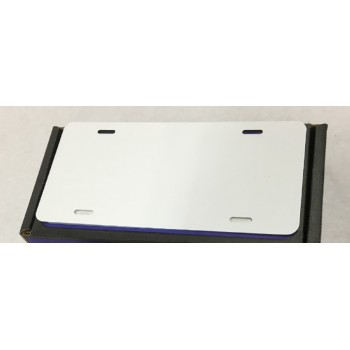 .025 White Aluminum License Plate (A-10)