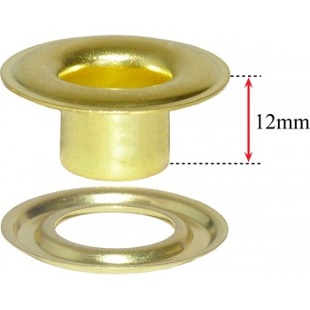 No.2XLN - 3/8in Xtra Long Neck Brass Grommets