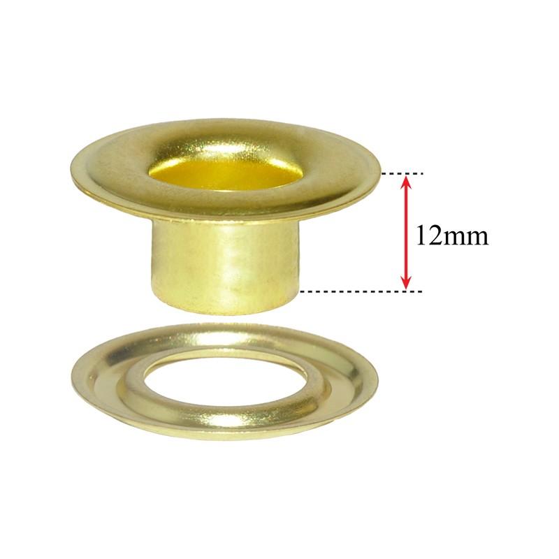 No.2XLN - 3/8in Xtra Long Neck Brass Grommets