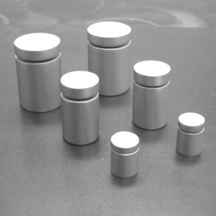 Wall Standoffs - Satin Aluminum